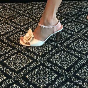 Chanel white heels